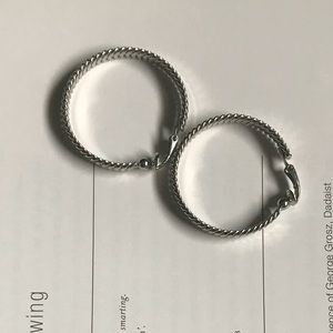 V I N T A G E | Silver Clip On Hoops